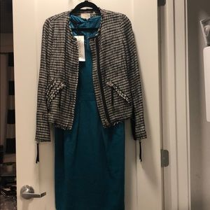 Lafayette 148 blue linen dress ,NEW